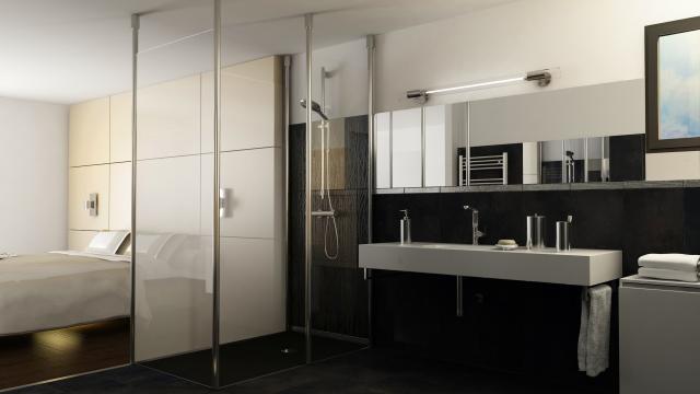 La douche à l\'italienne est toujours aussi tendance Brest. Salle de ...